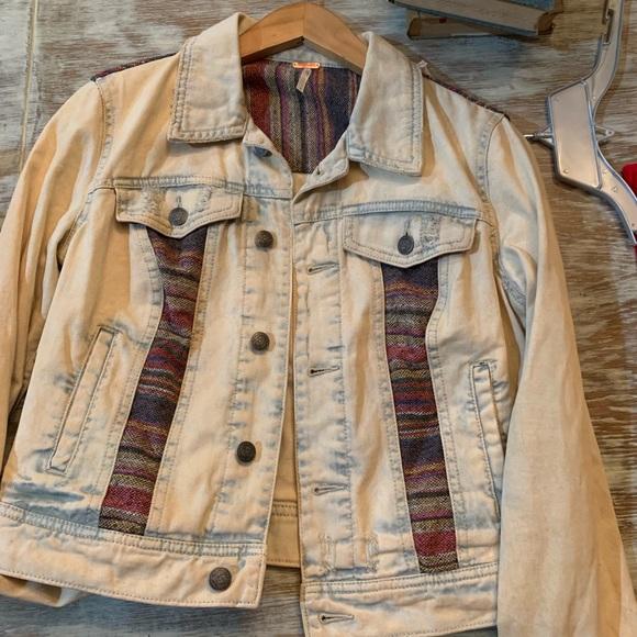 Free People Acid wash  Denim Jacket, Baja, Boho